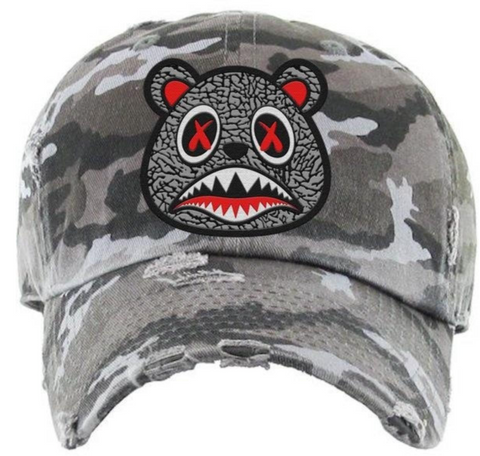 Elephant Distressed Dad Hat