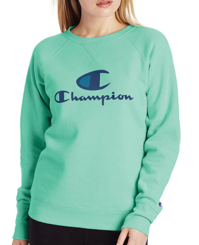 Women's C + Script Logo Powerblend® Fleece Crew