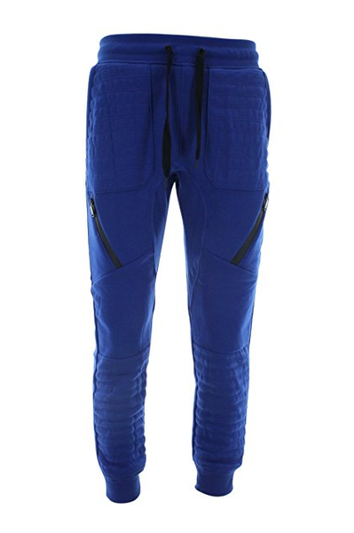 Quilted Moto Fleece Jogger