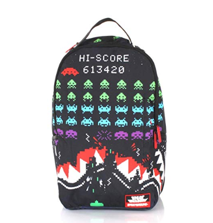 Shark Space Invaders Backpack