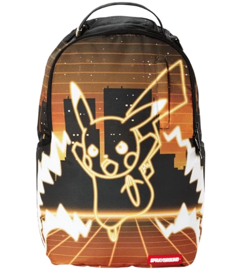 Pokemon Pikachu Neon Shark Backpack