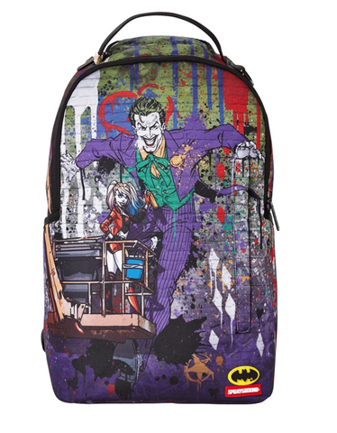 Joker Mural By Harley Quinn Backpack