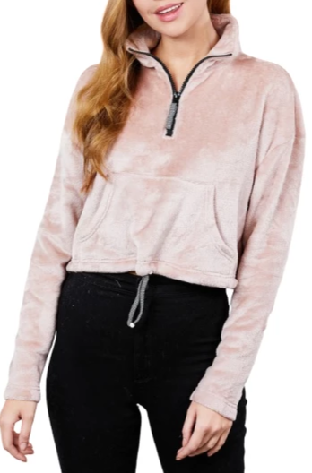 Plush Mock Neck Pullover