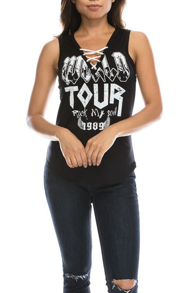 Lace Up Tour Tank