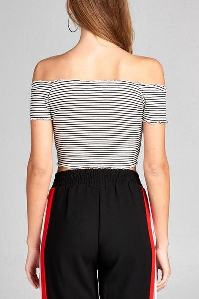 Striped Merrow Edge Top
