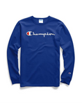 Champion Life® Men's Script Logo Long-Sleeve Tee