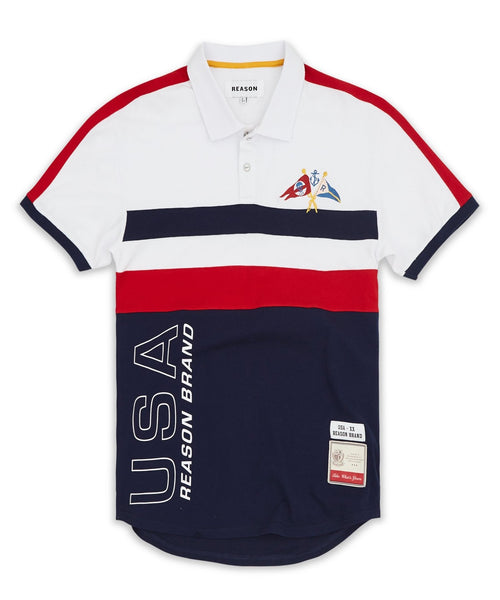 Retro Stripe Polo