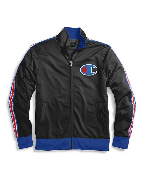 Champion Life Men S Chain Stitch Big C Logo Track Jacket Epicstores