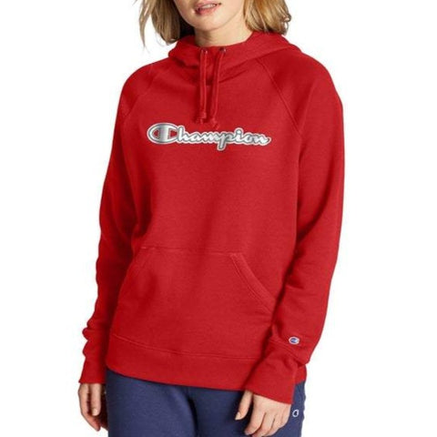Women's Powerblend® Fleece Chainstitch Logo Pullover Hoodie