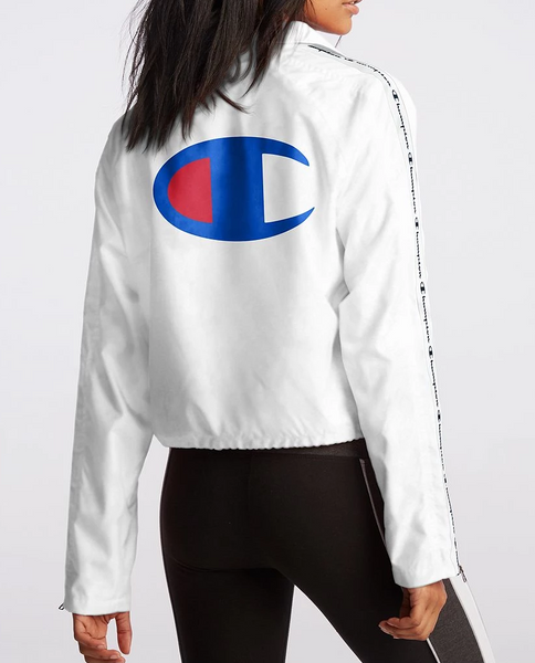 Women's Oversized C Logo Zipper Tape Cropped Coaches Jacket