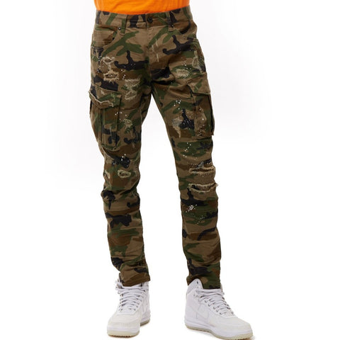 Splatter Twill Cargo Pants