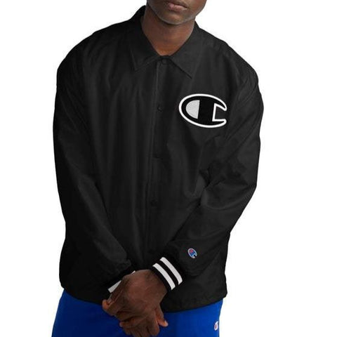 Champion Life® Men's Satin Big C Logo Coaches Jacket
