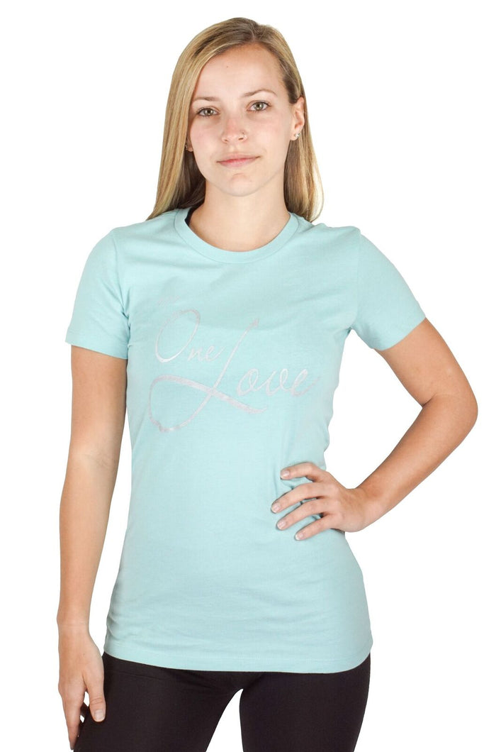 Teal One Love Tee