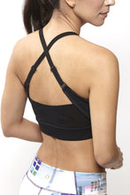 Load image into Gallery viewer, Eva Black Sports Bra