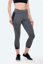 Load image into Gallery viewer, Ana Charcoal Cropped Leggings