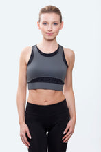 Load image into Gallery viewer, Ellie Charcoal Crop Top