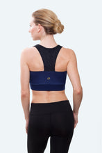 Load image into Gallery viewer, Ellie Navy Crop Top