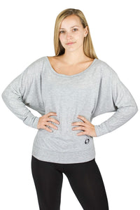 Light Gray Scoop Neck Shirt