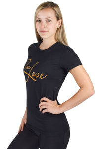 Black One Love Tee