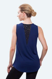 Sophia Navy Loose Fit Tank