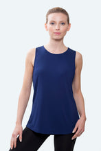 Load image into Gallery viewer, Sophia Navy Loose Fit Tank