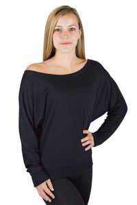 Black Scoop Neck Shirt