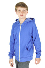 Load image into Gallery viewer, Blue Zip Up Hoodie