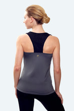 Load image into Gallery viewer, Maria Charcoal Racerback Tank