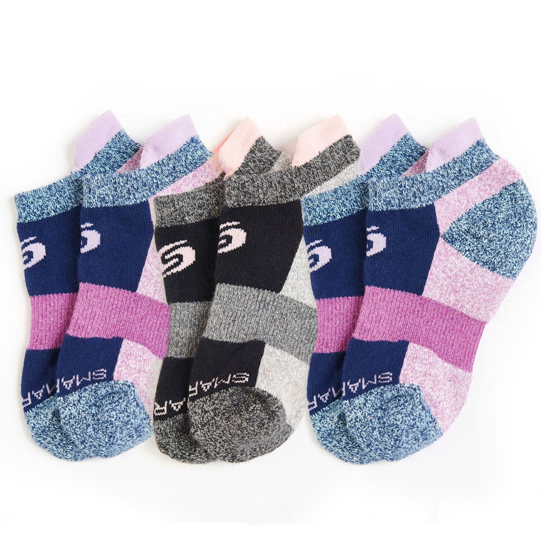 Youth Ankle Socks 3-Pack (Girls)