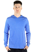 Load image into Gallery viewer, Blue Hooded Long Sleeve