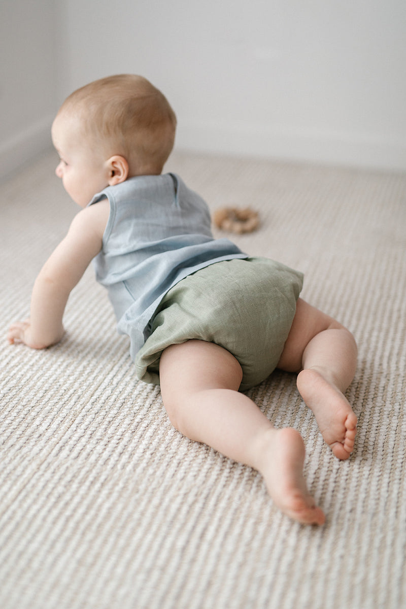 Sage Linen Nappy Cover