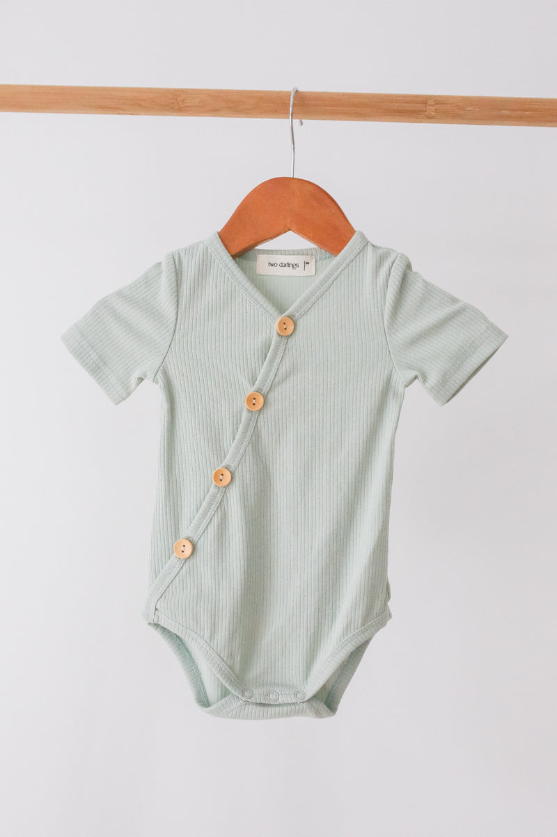 Spearmint Short Sleeve Bodysuit - PRE SALE
