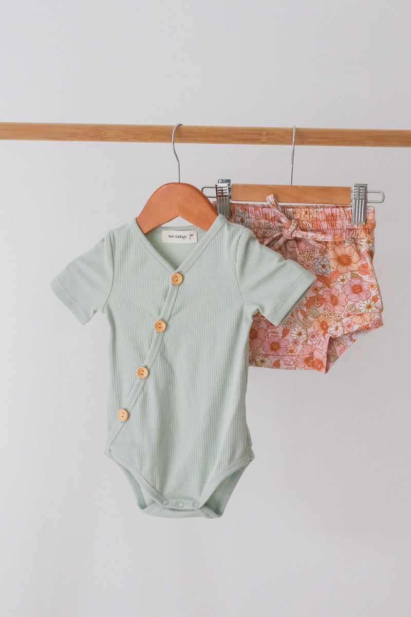 Spearmint Short Sleeve Bodysuit