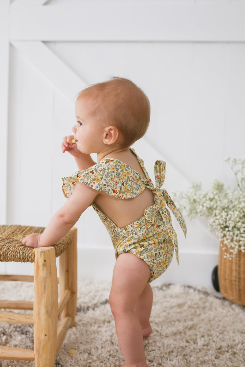 Honey Floral Vintage Romper - PRE SALE