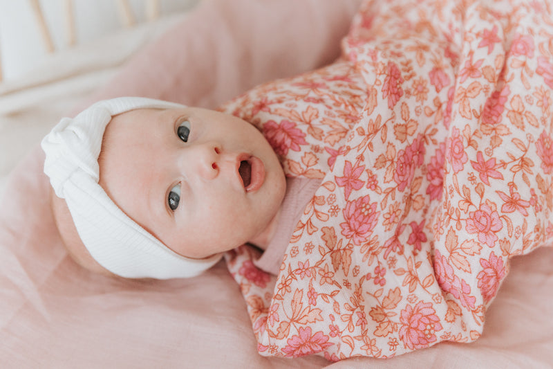 Daisy Floral Bamboo Swaddle