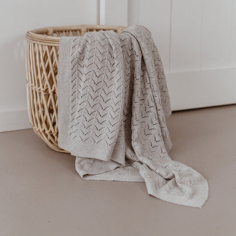 Grey Heirloom Blanket