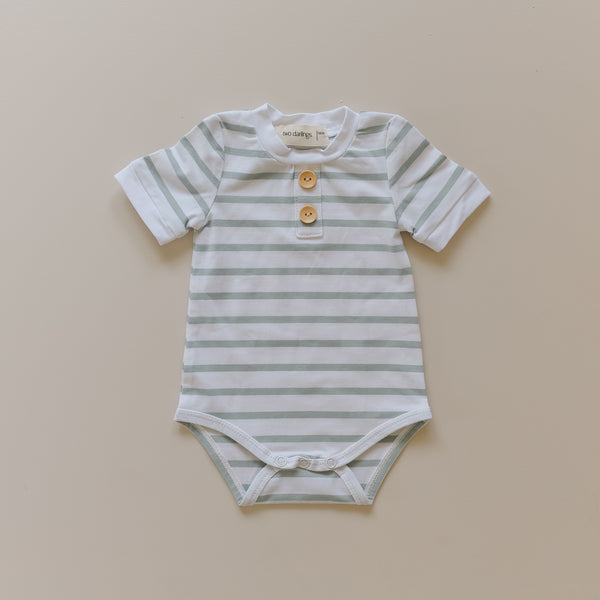 Seafoam Stripe Basic Bodysuit
