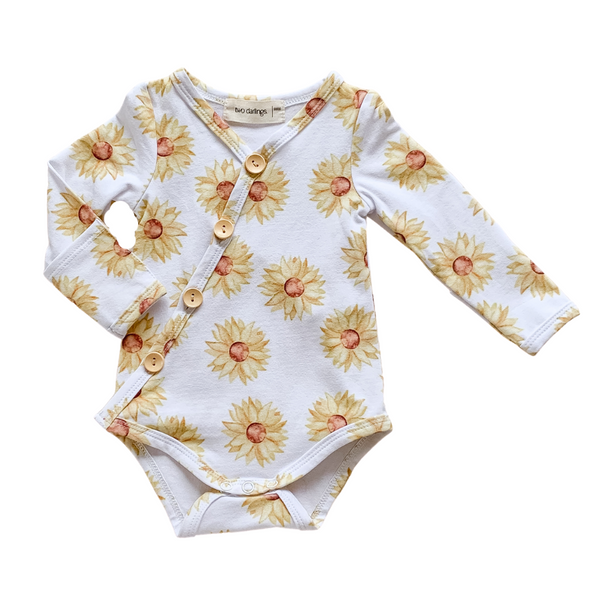 Sunflower Long Sleeve Bodysuit