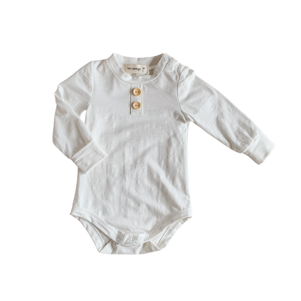 Milk Long Sleeve Bamboo Basic Bodysuit