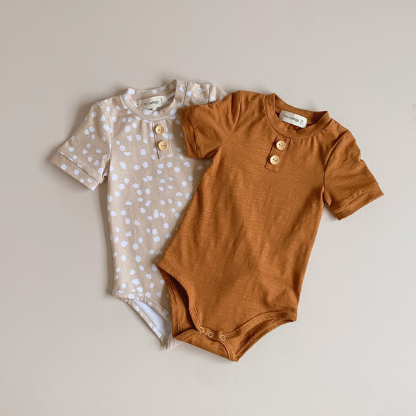 Latte Speckle Basics Bodysuit