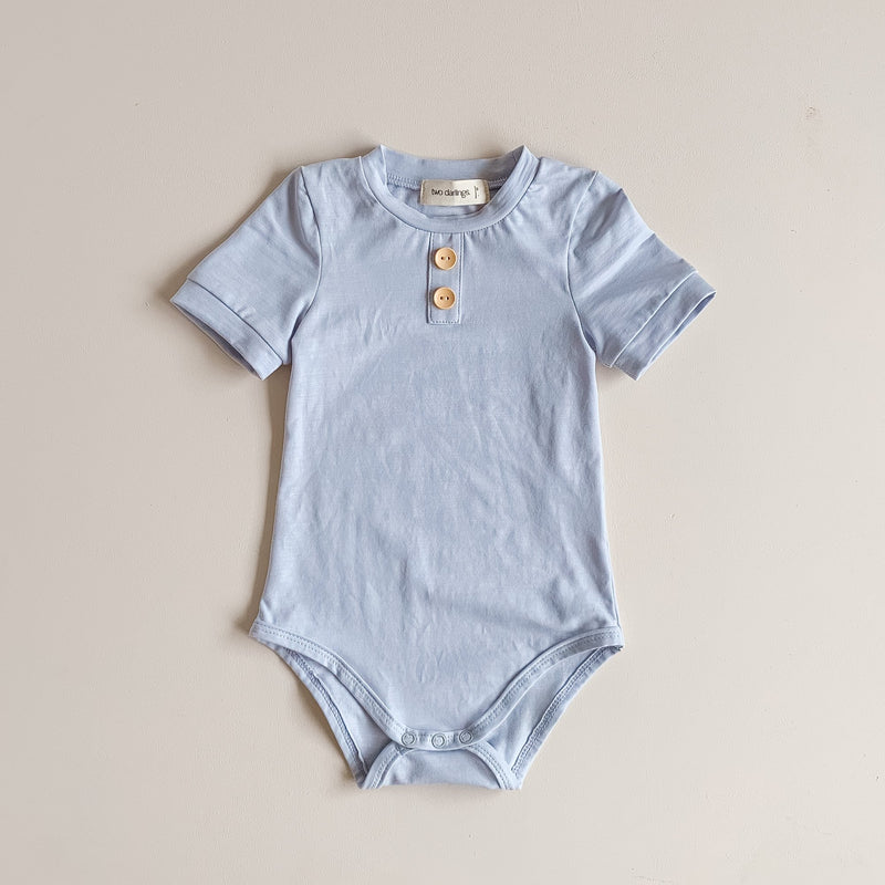 Pale Blue Bamboo Basics Bodysuit