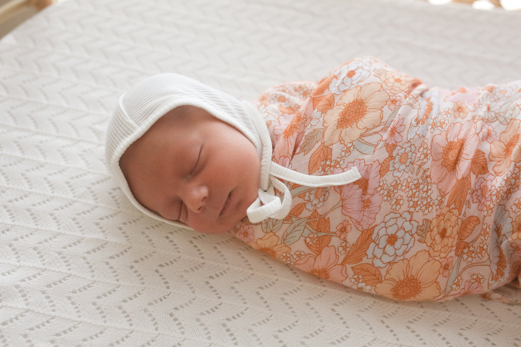 Wildflower Bamboo Swaddle