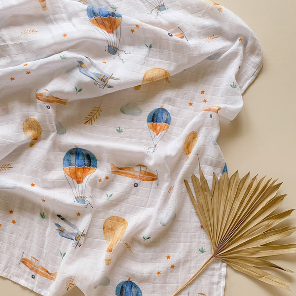 Up, Up and Away Bamboo Swaddle