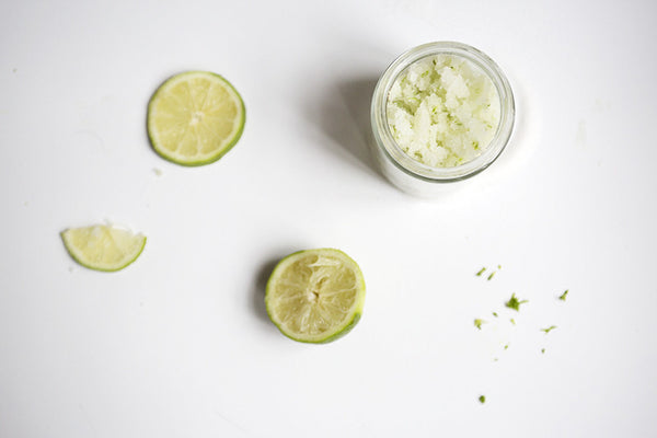 natural body scrub DIY lime coconut oil