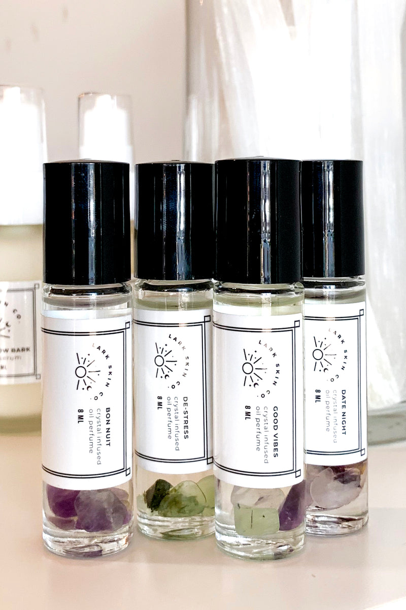 Crystal Infused Essential Oil Perfume - Lark Skin Co.