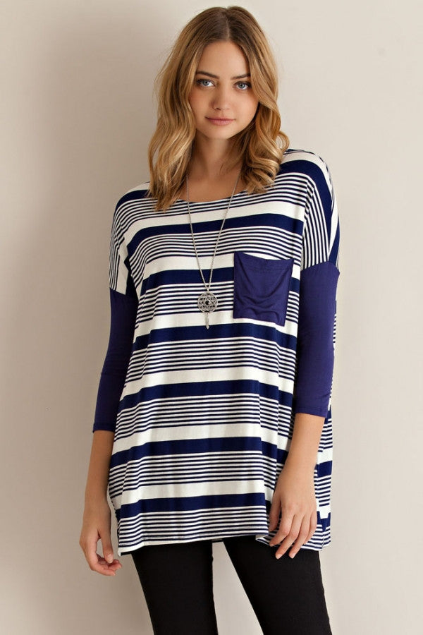Long Sleeve Stripe Jersey Top