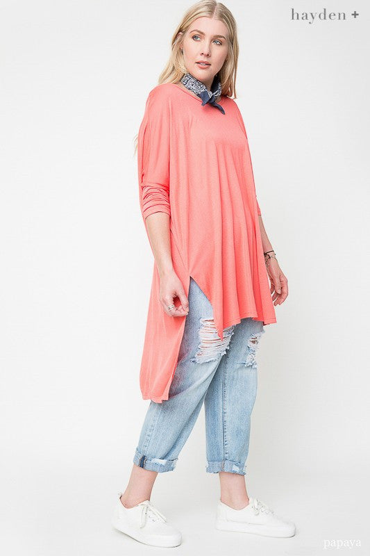 Plus Size Hi-Low Hem Tunic