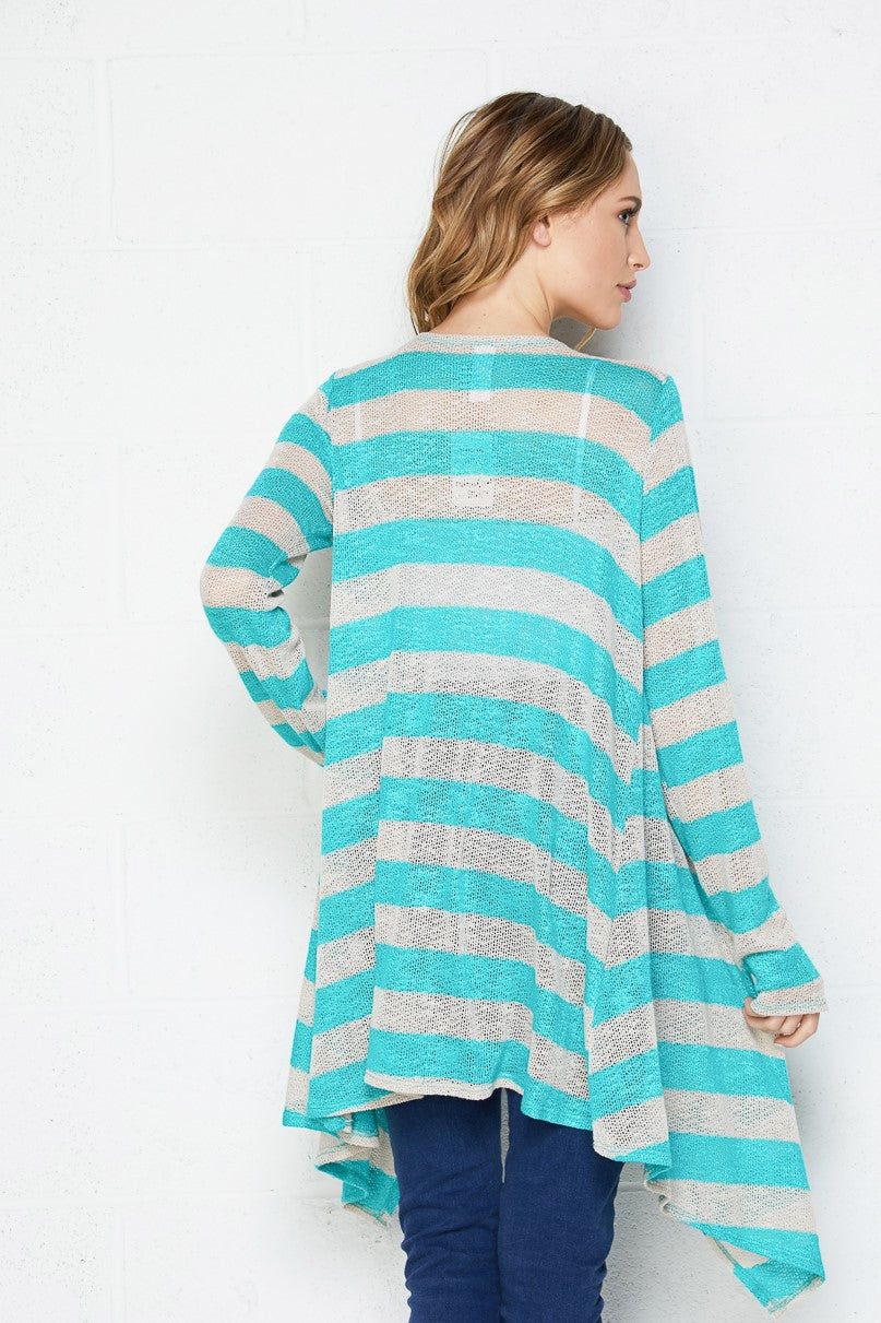 Hacci Knit Stripe Cardigan