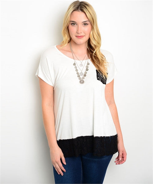 Plus Size Lace Tee
