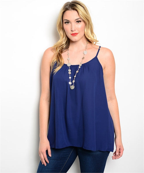 Plus Size Navy Camisole